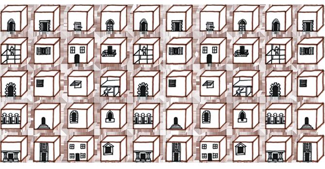Un pattern disegnato da Mario Conzano per i tavolini di Several Copy